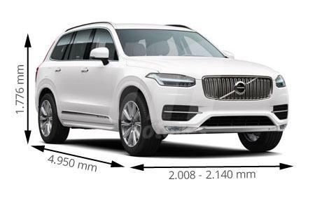 Medidas del Volvo XC90