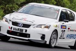 Primer podio para el Lexus CT 200h de competición