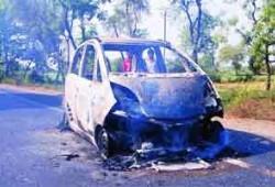 Se incendia otro Tata Nano en la India.