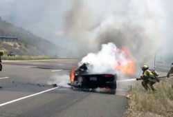 Aquí está el primer Lamborghini Aventador envuelto en llamas