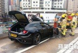 Un Ferrari FF envuelto en una bola de fuego