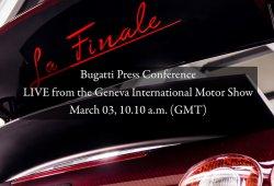 Bugatti en directo desde el Salón de Ginebra 2015
