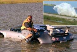 Un año de prisión por el accidente del Bugatti Veyron en un lago salado