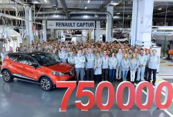 Fabricada la unidad 750.000 del Renault Captur en Valladolid