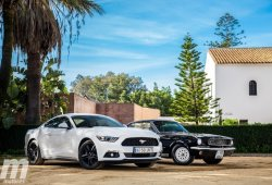 Prueba Ford Mustang Ecoboost 2015 vs Mustang V8 1966: el peso de la herencia