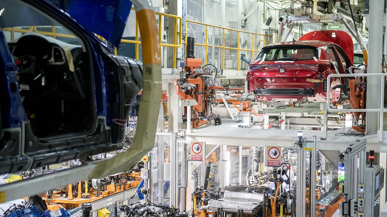 Producción del SEAT León en Martorell