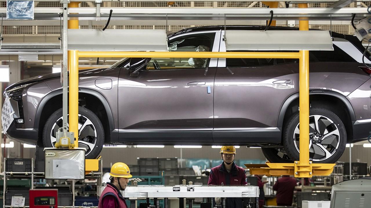 Producción de coches eléctricos Nio