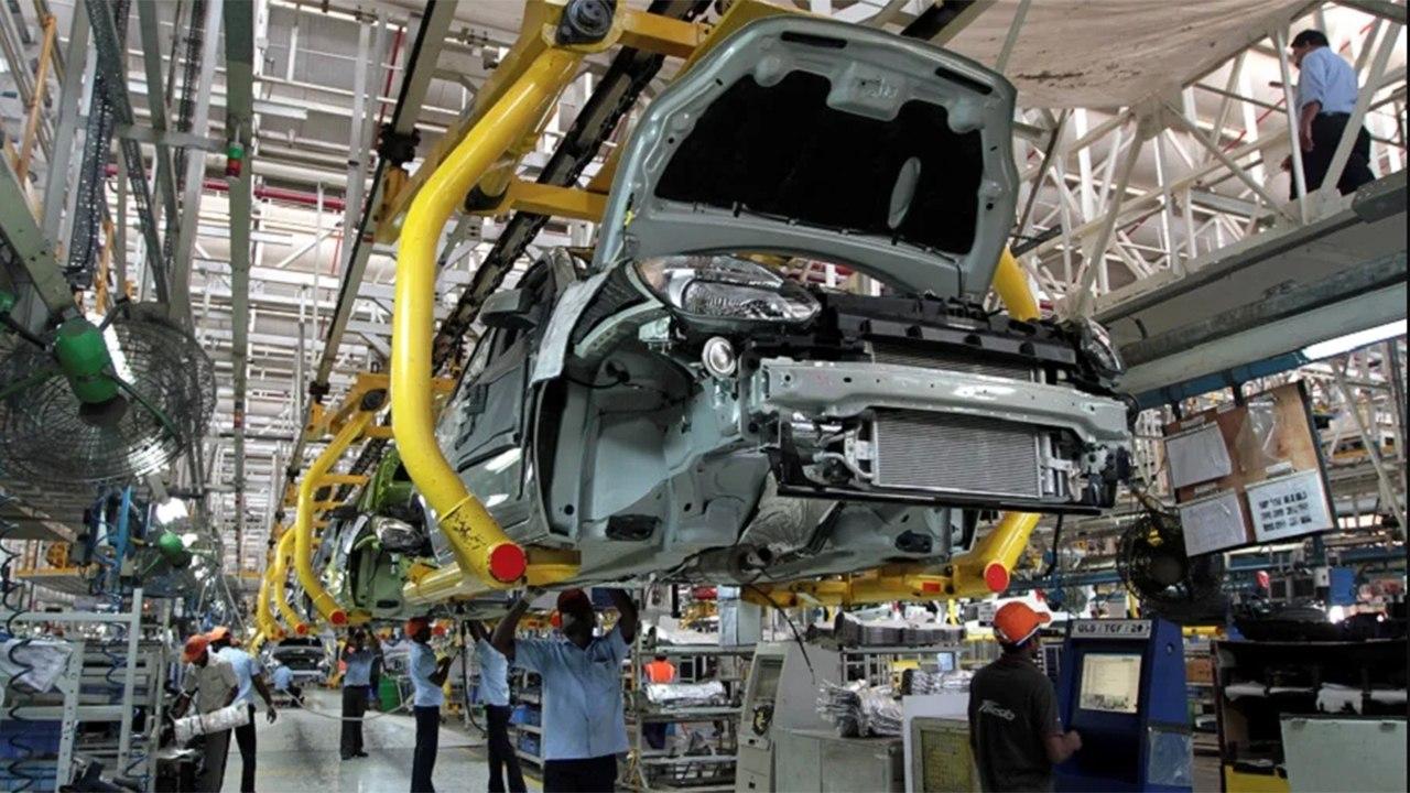 Producción de coches de Ford en Chengalpattu, la India