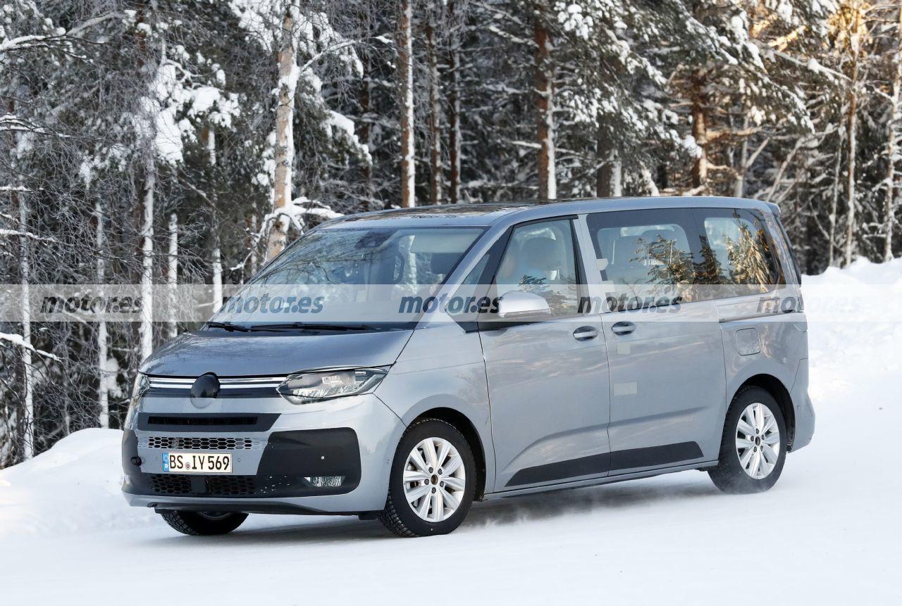 Fotos espía Volkswagen T7 Multivan 2022 - Exterior