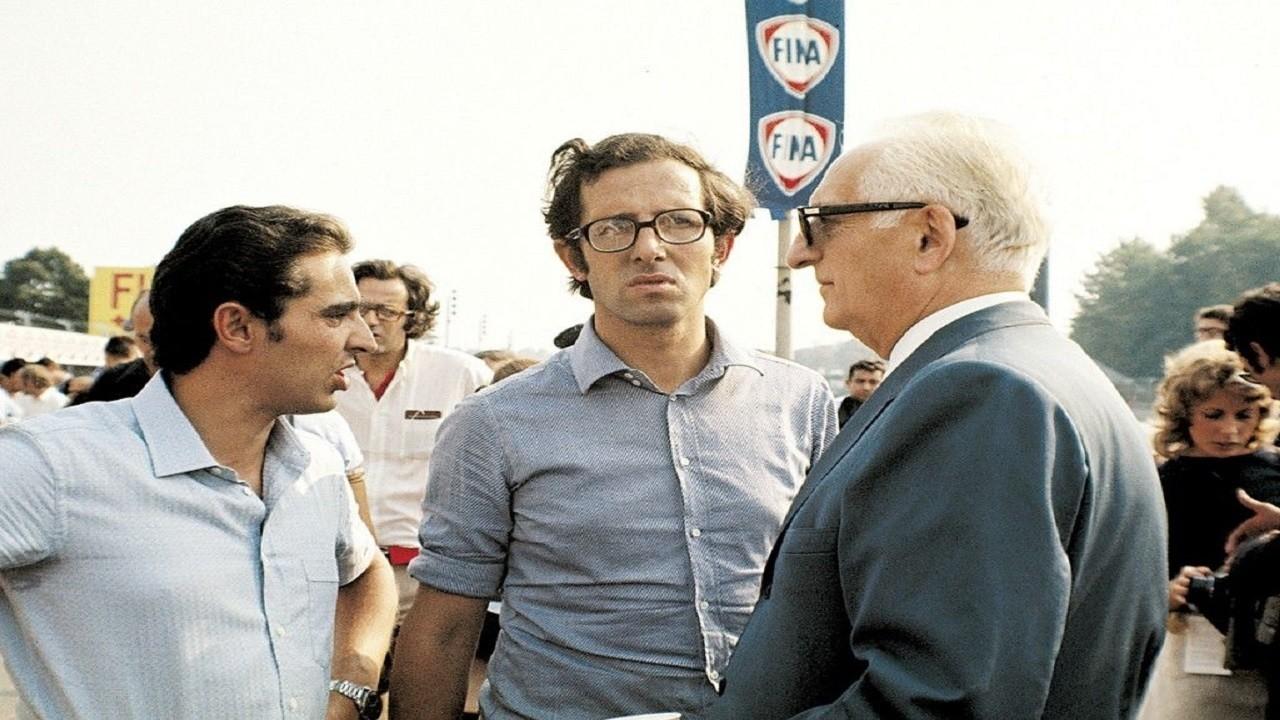 Enzo Ferrari junto a Mauro Forghieri