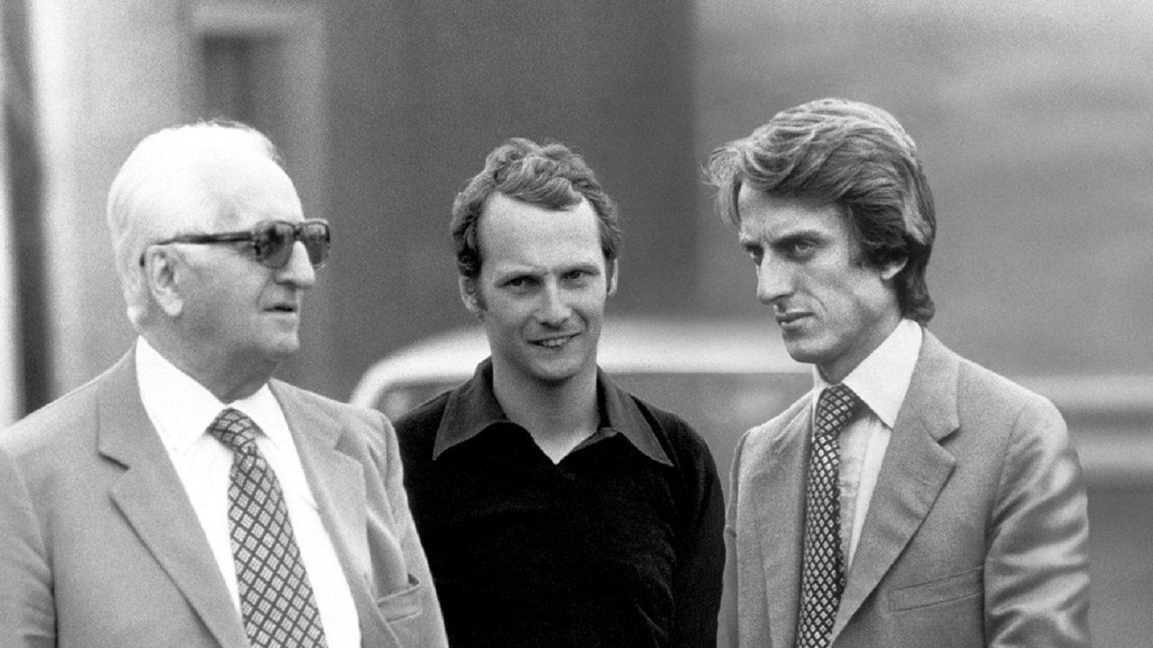 Enzo Ferrari, Lauda y Montezemolo