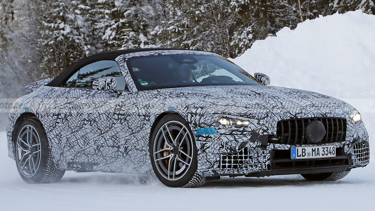 Mercedes SL 2022 - spy photo