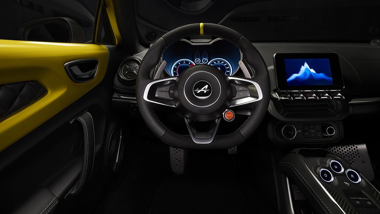 Alpine A110 Color Edition - interior
