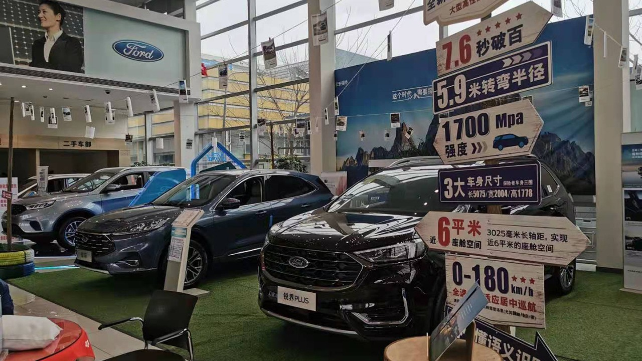 Car sales in China in January 2021