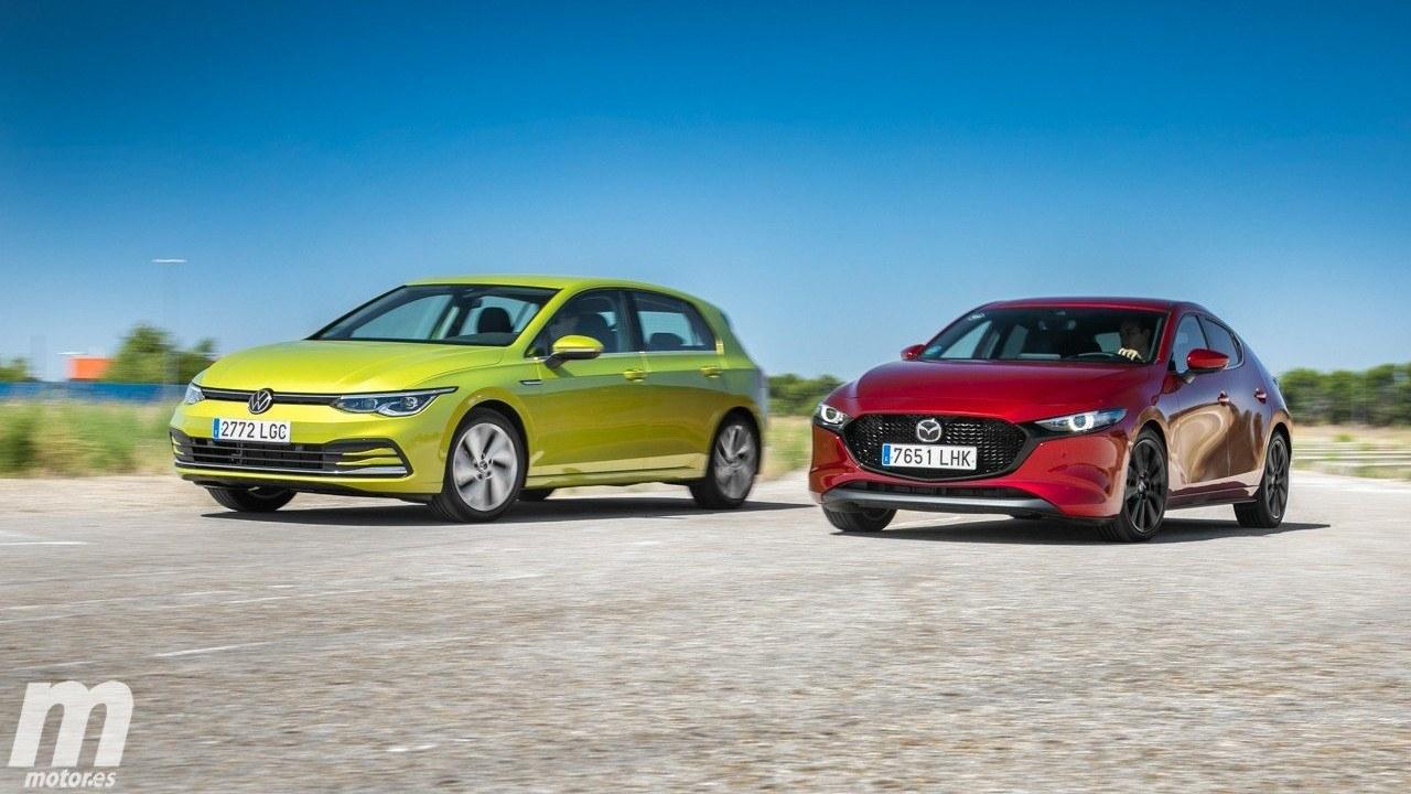 Volkswagen Golf y Mazda3