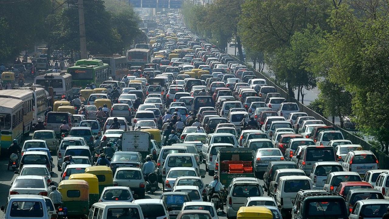 Tráfico en Chennai