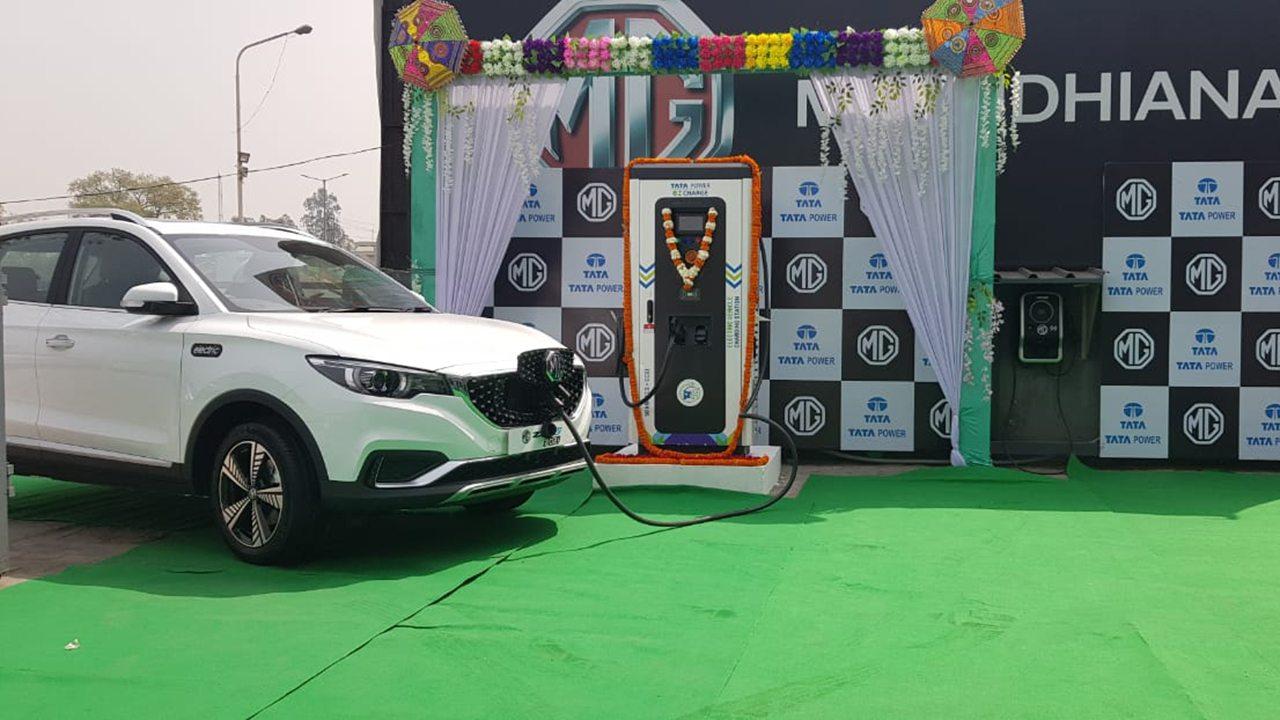 MG ZS EV en la India