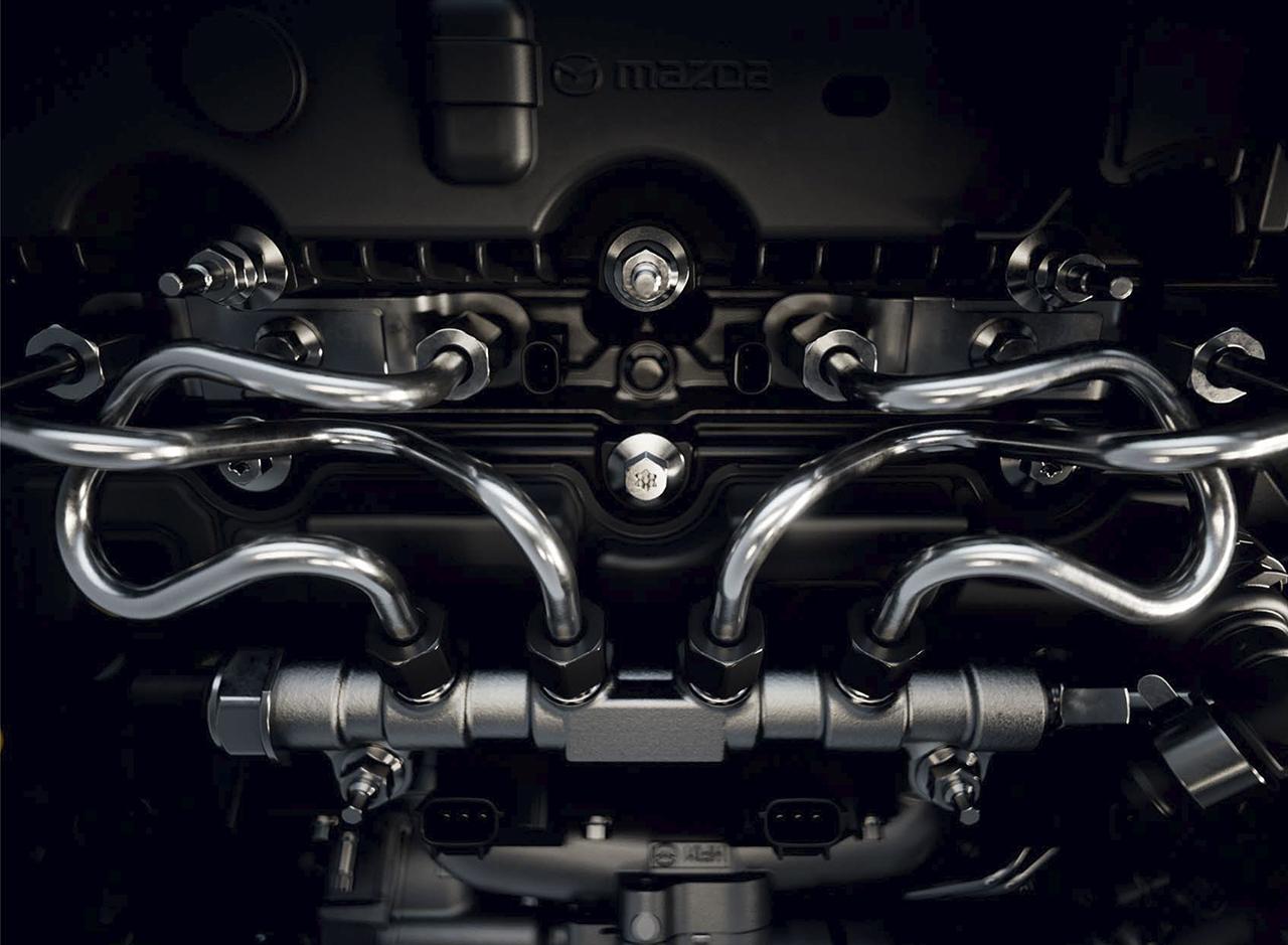 Foto motor Mazda «e-Skyactiv X» - técnica
