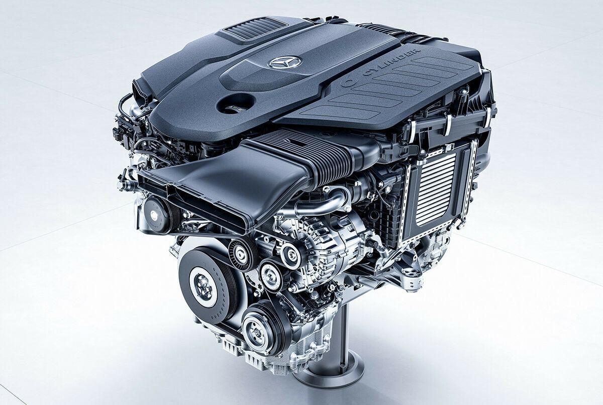 Foto motor de gasolina Mercedes M256 - técnica