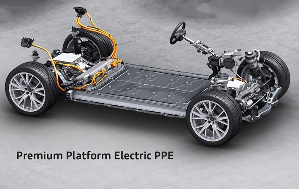 Foto plataforma PPE de coches eléctricos de Audi y Porsche