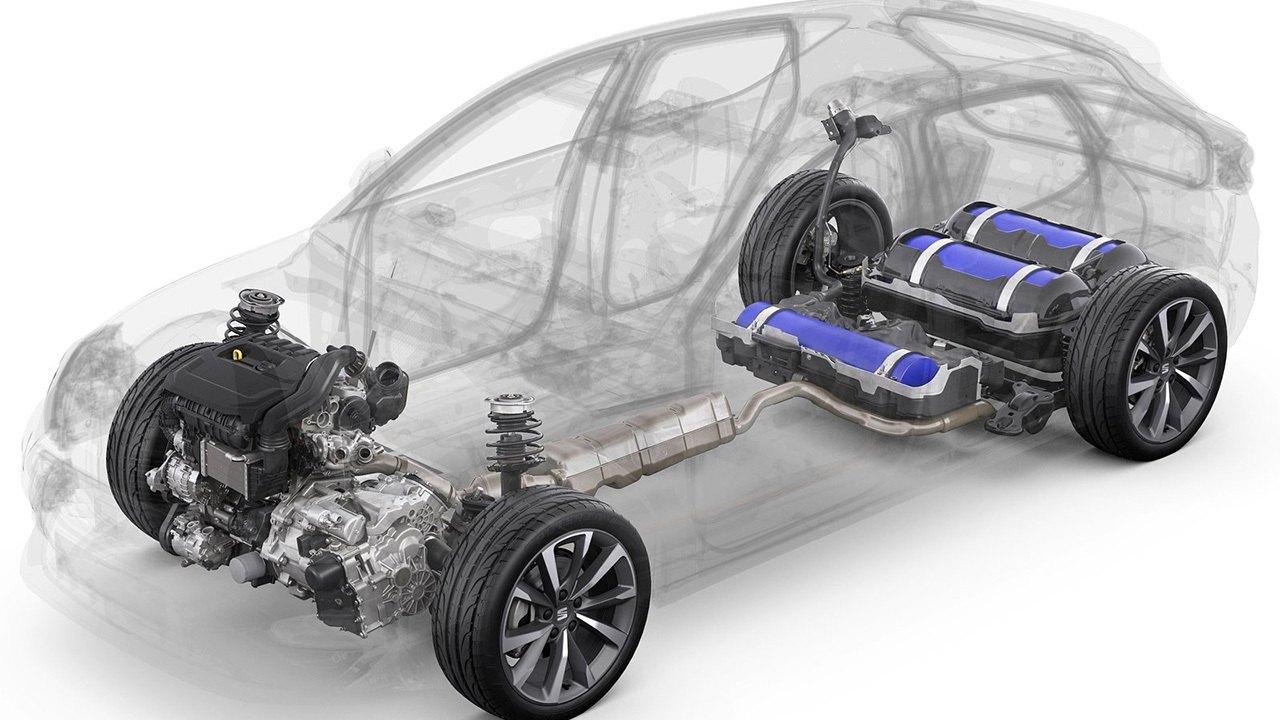 SEAT León TGI 2021 - esquema técnico