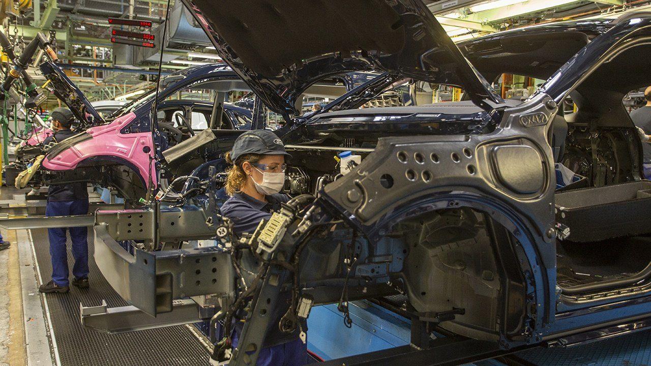 Producción de vehículos en España en febrero de 2021