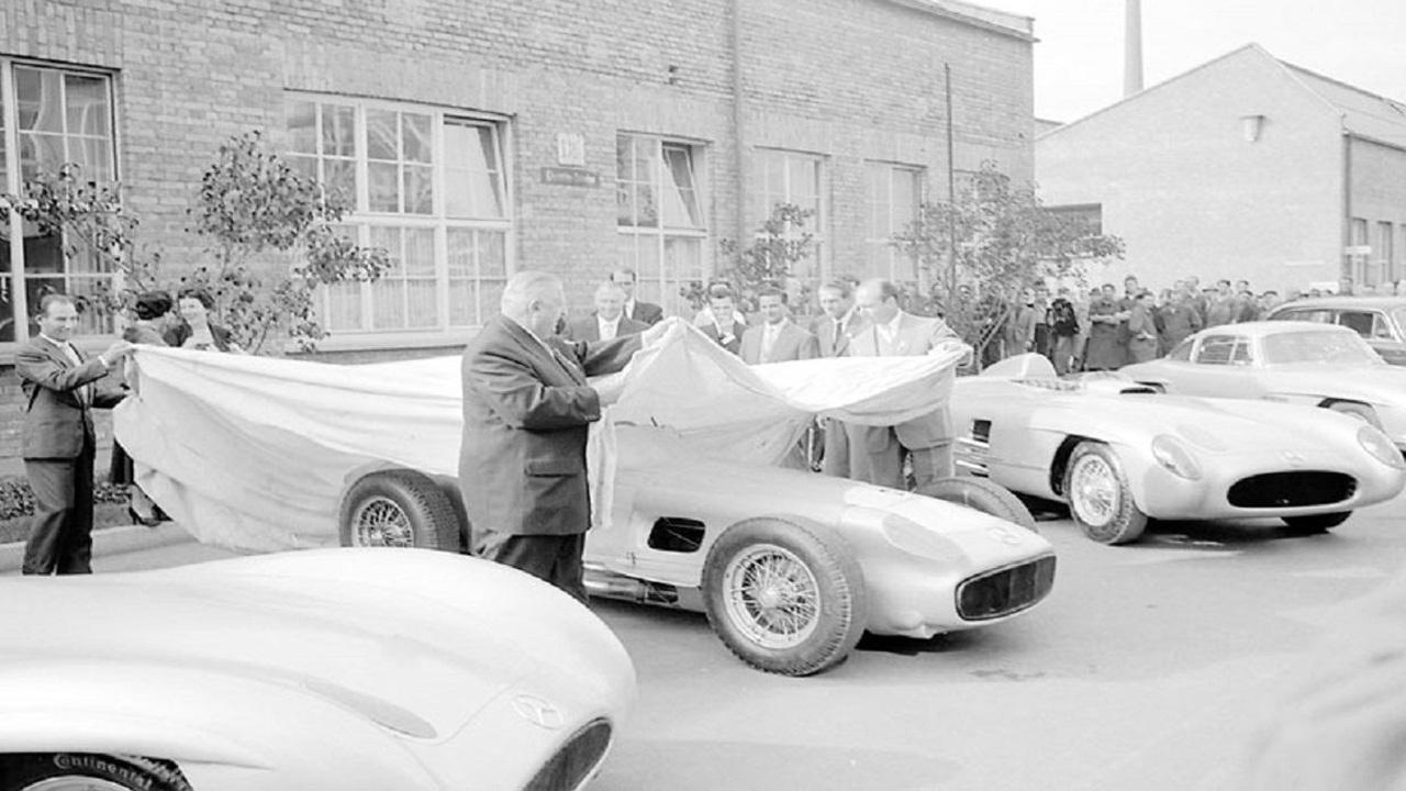 El adiós de Mercedes en 1955