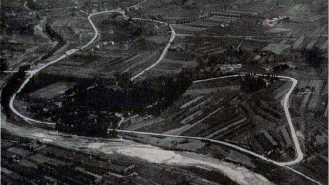 Vista aérea del Circuito de Imola en 1972