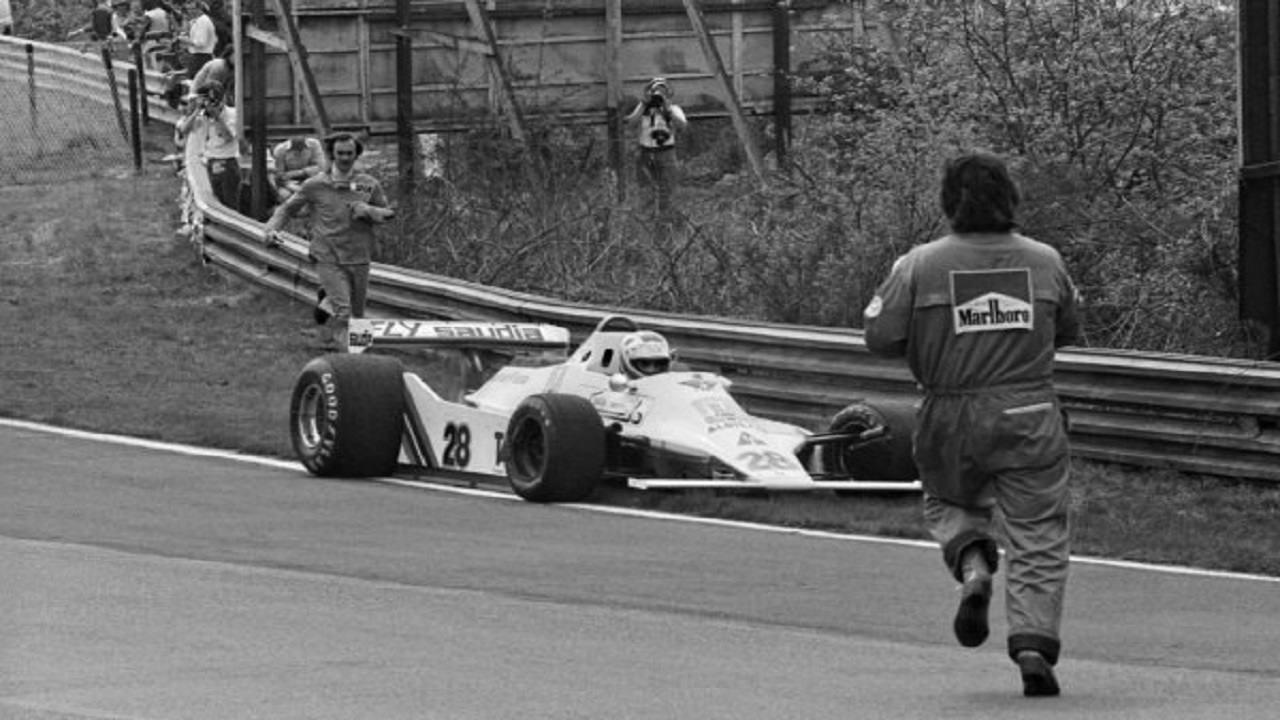 Clay Regazzoni con Williams en el GP de Bélgica de Fórmula 1 de 1979