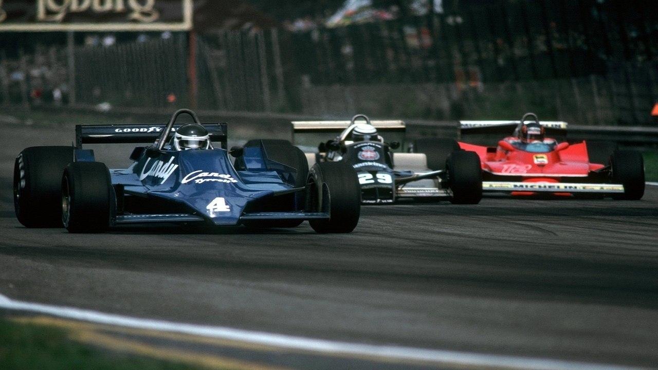 Jean-Pierre Jarier, Riccardo Patrese y Gilles Villeneuve en el GP de Bélgica de F1 de 1979