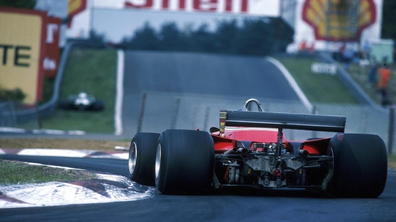 Gilles Villeneuve traza la chicane de Zolder del GP de Bélgica de 1979