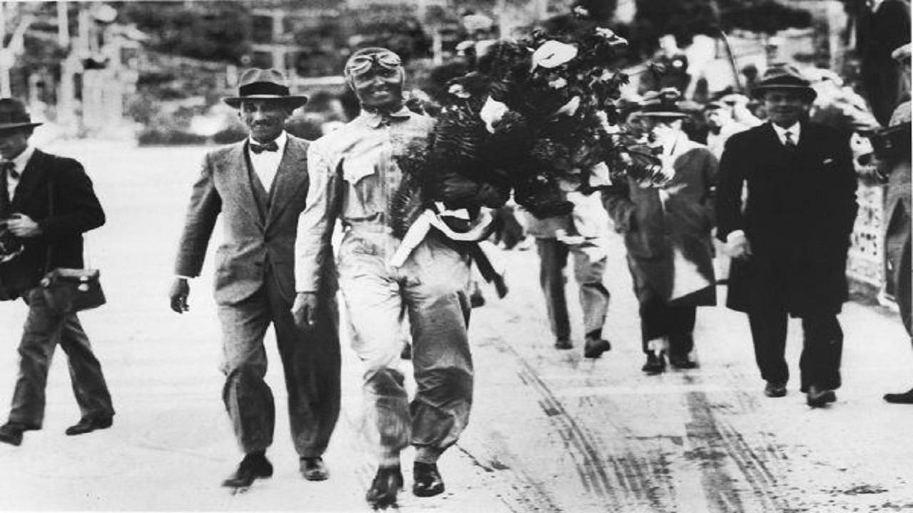 Antony Noghès y Louis Chiron en el Gran Premio de Mónaco de 1931