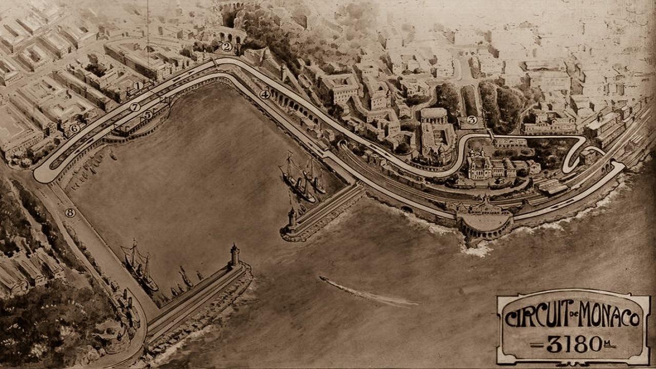 El circuito original del GP de Mónaco de 1929