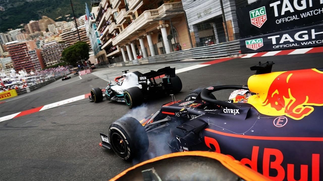 Max Verstappen y Lewis Hamilton en el GP de Mónaco F1 de 2019