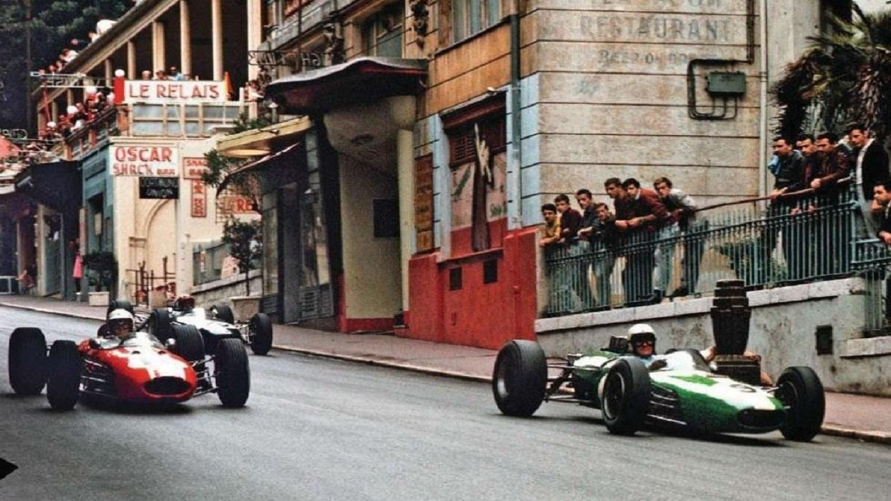 La bajada a Mirabeau en el GP de Mónaco F1 de 1965