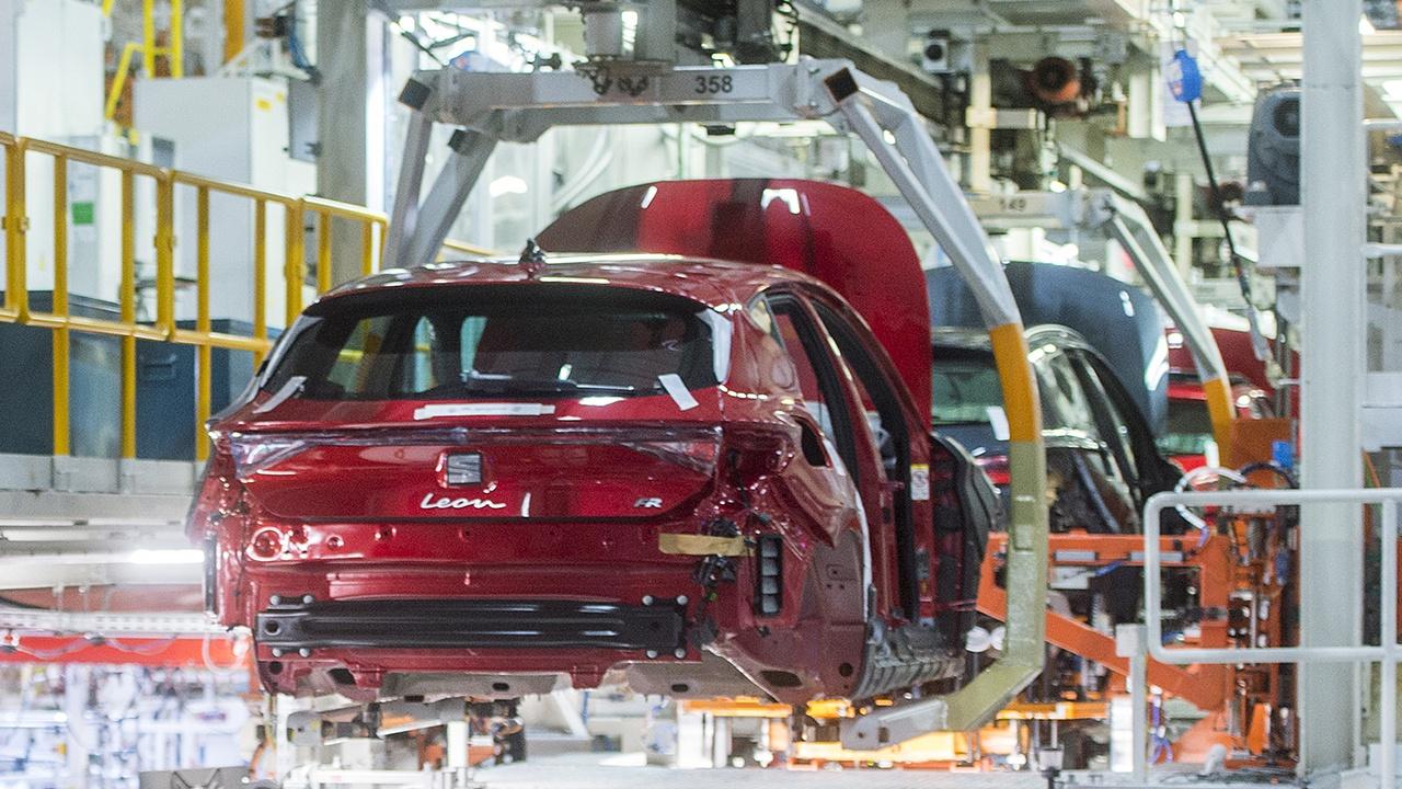 Producción de vehículos en España en abril de 2021