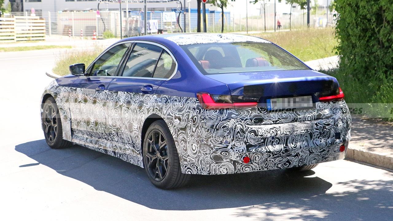 BMW Serie 3 EV - foto espía posterior