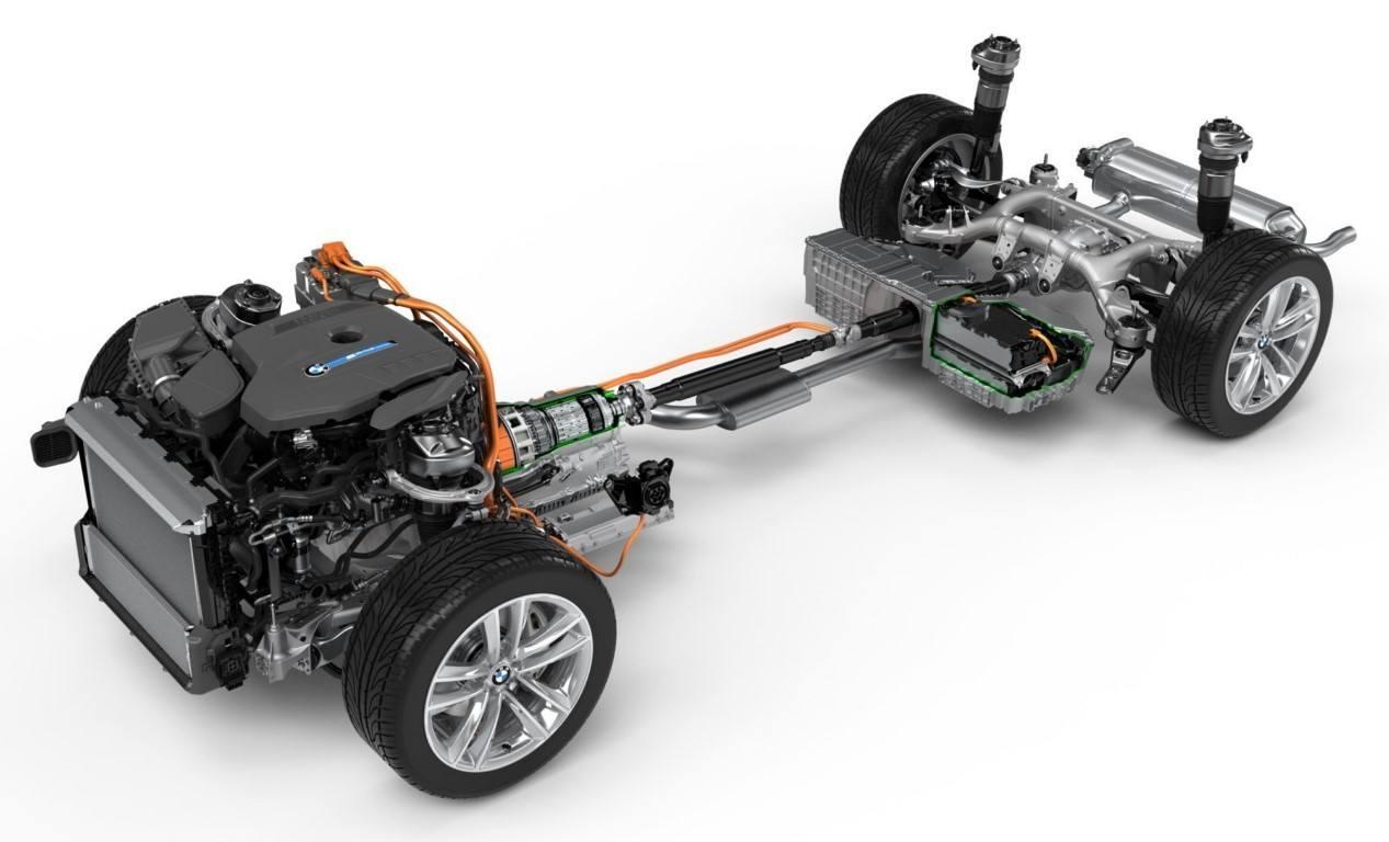 Foto Detalle de la batería del BMW Serie 7 740e híbrido