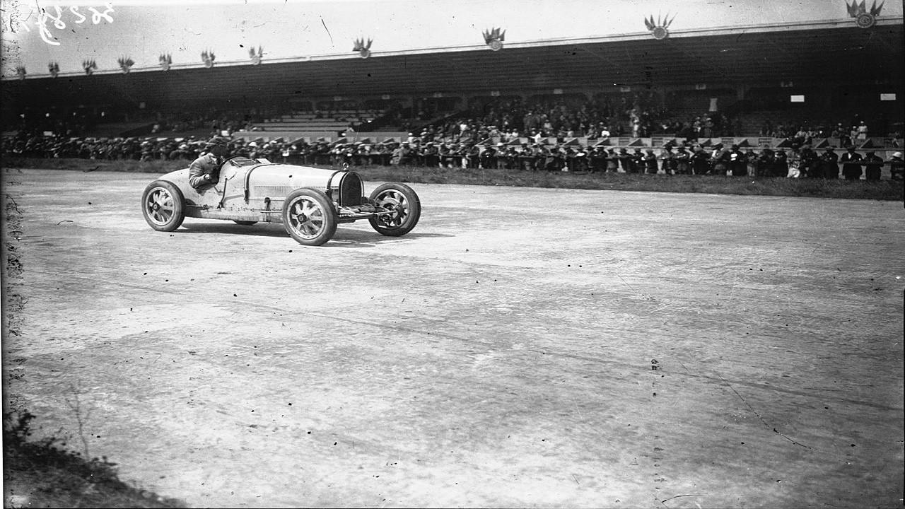 Meo Costantini en el Gran Premio de Francia de 1926