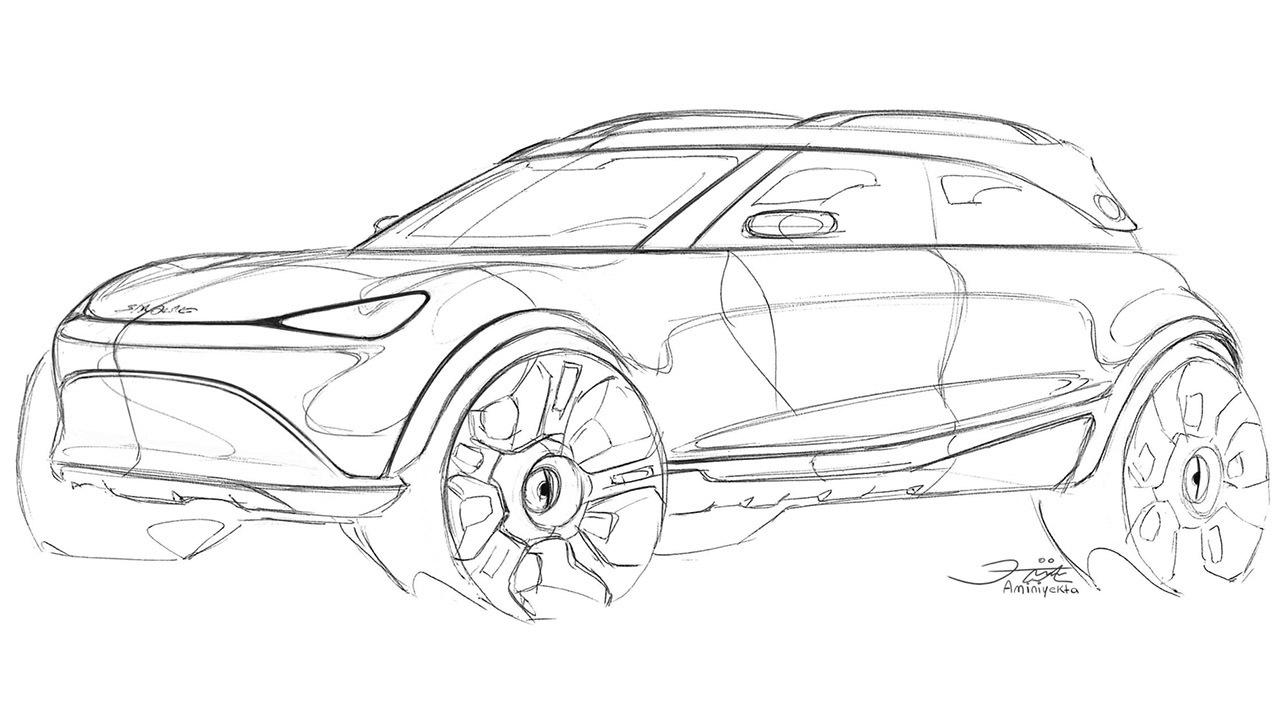 Boceto del SUV eléctrico de Smart