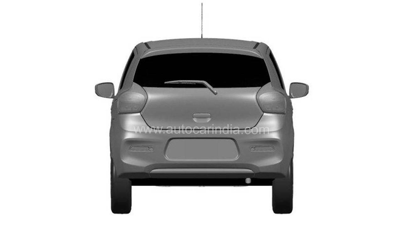 Suzuki Celerio 2022 - foto espía posterior