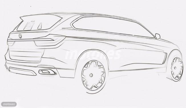 BMW X7 - boceto