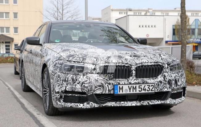 BMW Serie 5 M 2017 - foto espía del interior