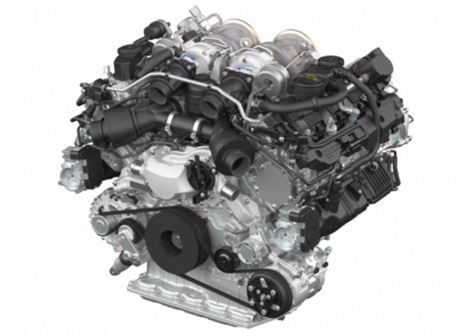 Porsche Motor V8 Twin-Turbo