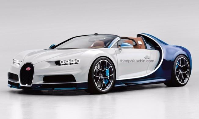 Recreación del Bugatti Chiron descapotable