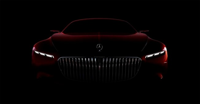 Vision Mercedes-Maybach 6 - teaser frontal
