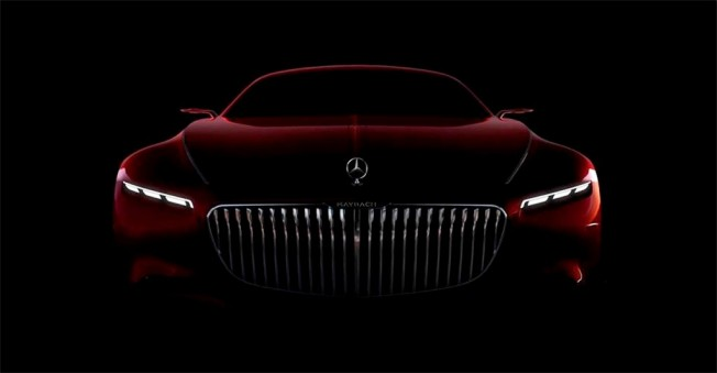 Vision Mercedes-Maybach 6 - teaser frontal modificado