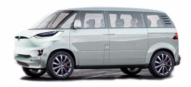 Tesla Minibus - recreación
