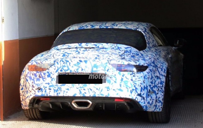 Alpine AS1 2017 - foto espía posterior