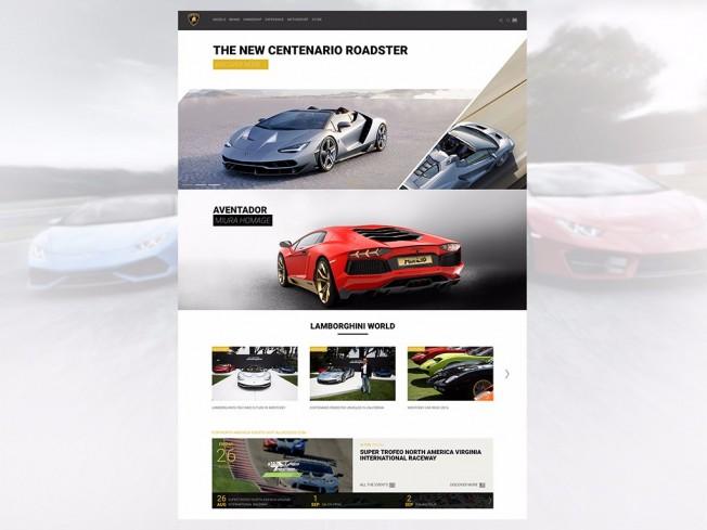 Lamborghini - nueva página web